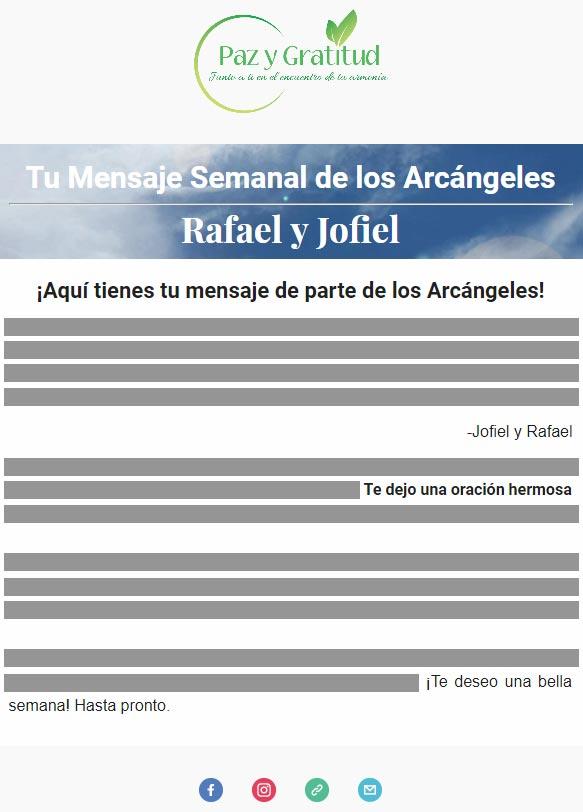 mensaje de los arcángeles del cielo