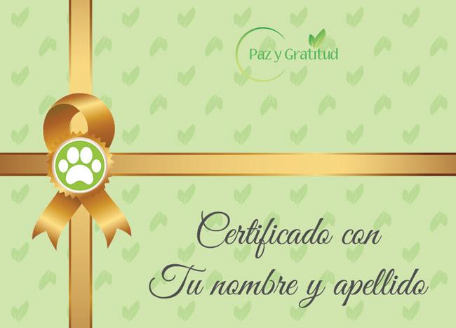 certificado de comunicación telepática con animales